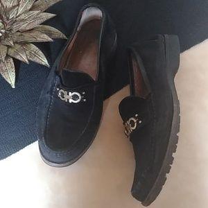 Salvatore Ferragamo Mens Black Loafers